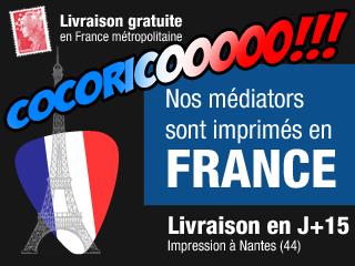 Livraison gratuite, médiators fabriqués en France, livraison en J+8